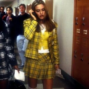 Clueless Yellow Plaid Skirt Size Large